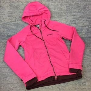 NWOT Columbia pink zip up hoodie